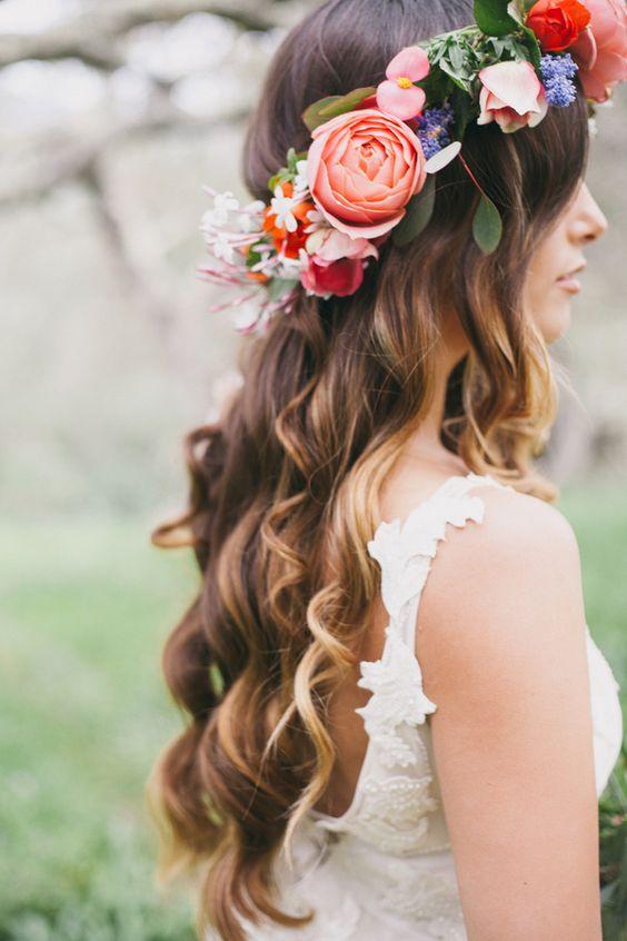 acconciature sposa fiori