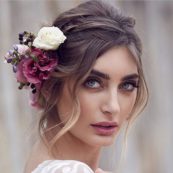capelli sposa fiori