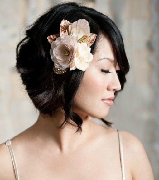 fiori sposa capelli corti