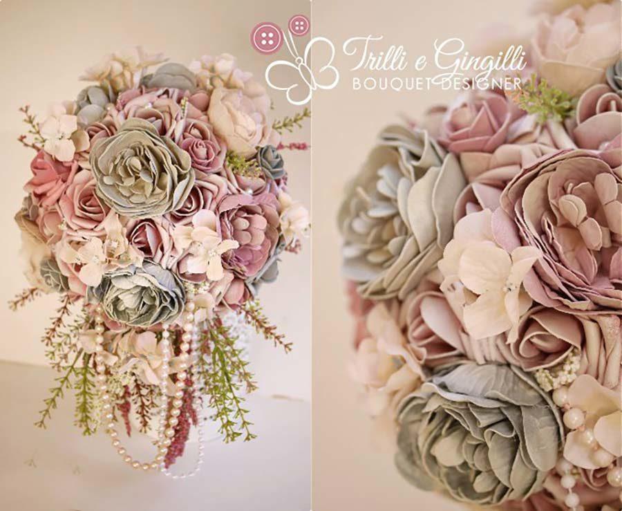 bouquet matrimonio tema vintage