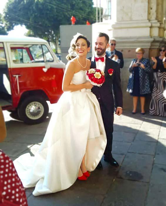 matrimonio anni 50 sposa rosso