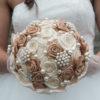 bouquet rose raso beige