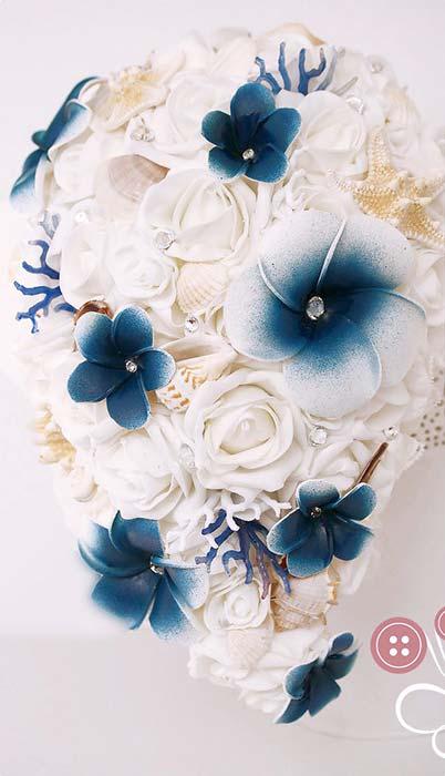 bouquet sposa a cascata tema mare