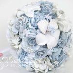 bouquet sposa rotondo azzurro