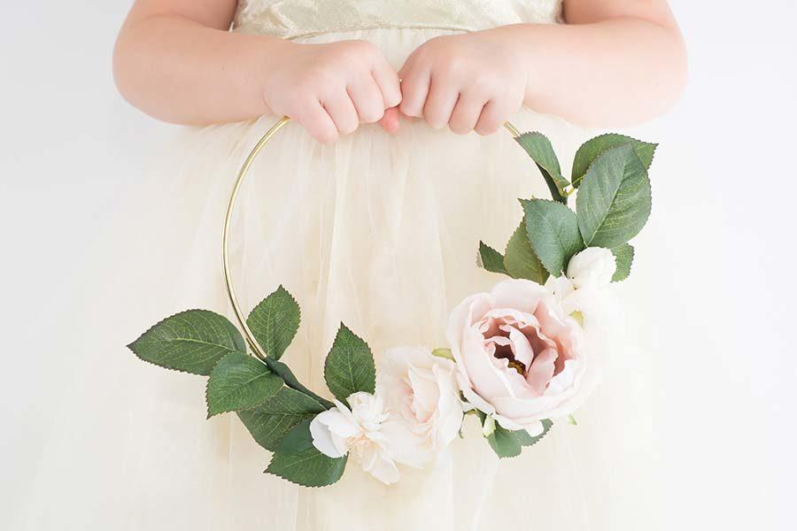 hoop bouquet damigella