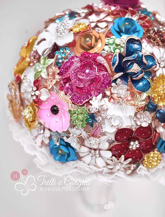 bouquet colorato gioiello
