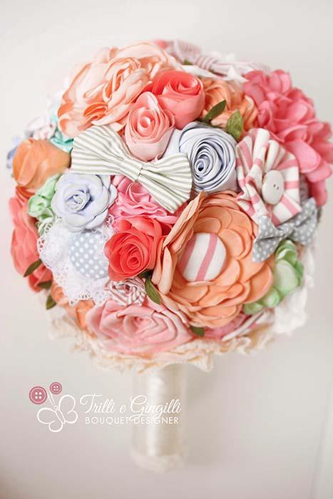 bouquet colorato stoffa