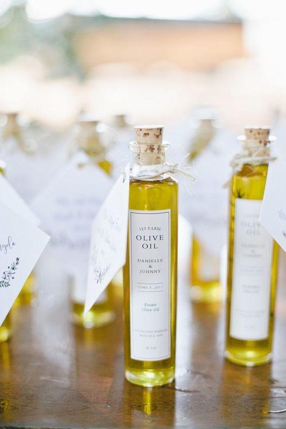 bomboniere matrimonio tema ulivo olio d'oliva