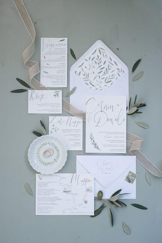 inviti di nozze a tema ulivo