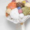Bouquet di gomitoli di lana