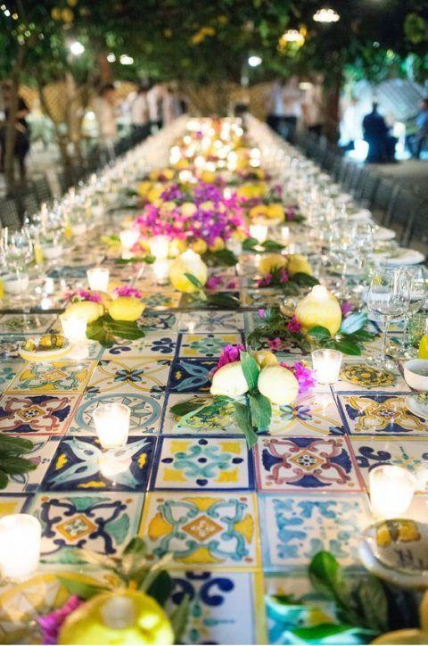 addobbi matrimonio tema sicilia maioliche siciliane