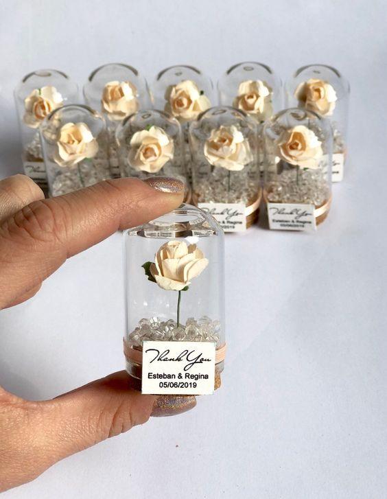 bomboniere matrimonio fiori carta
