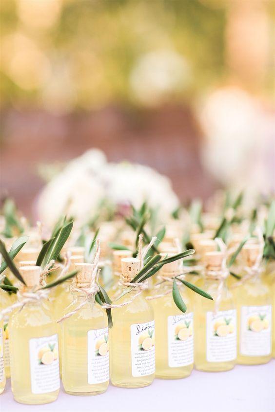 bomboniere matrimonio tema sicilia limoncello