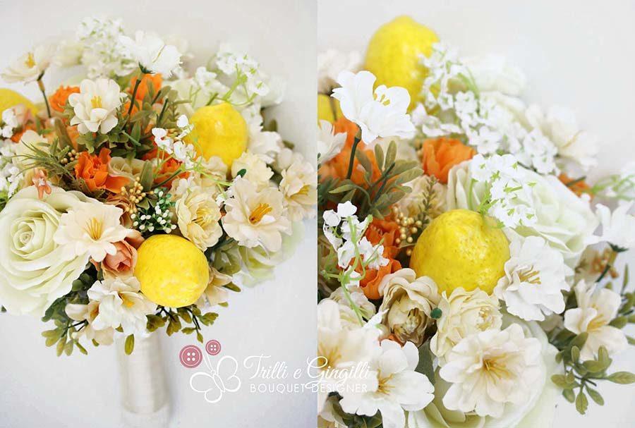bouquet matrimonio tema sicilia limoni
