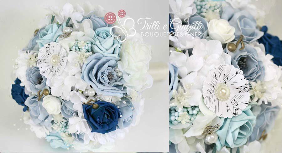 bouquet sposa matrimonio tema sicilia musica