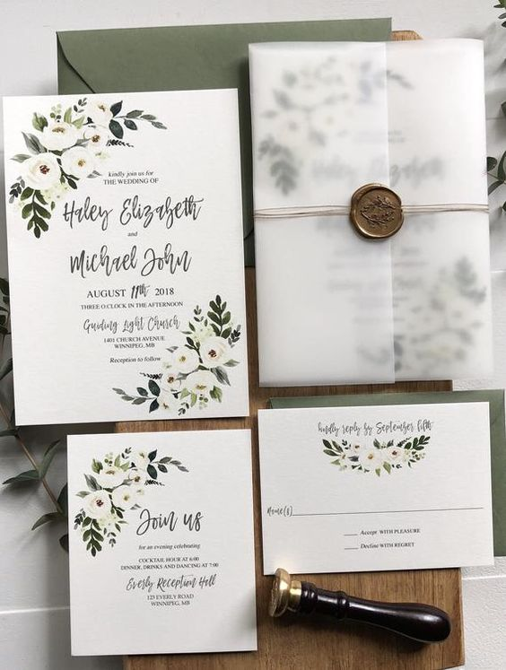 matrimonio tema fiori partecipazioni eleganti