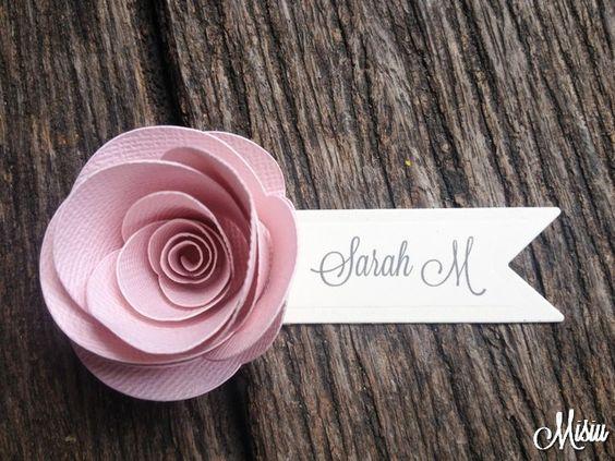 segnaposto matrimonio fiori carta