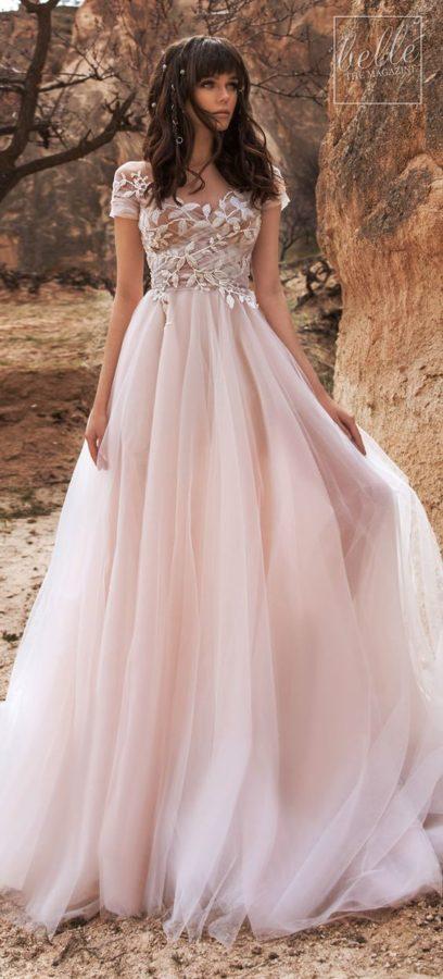 abito da sposa rosa cipria