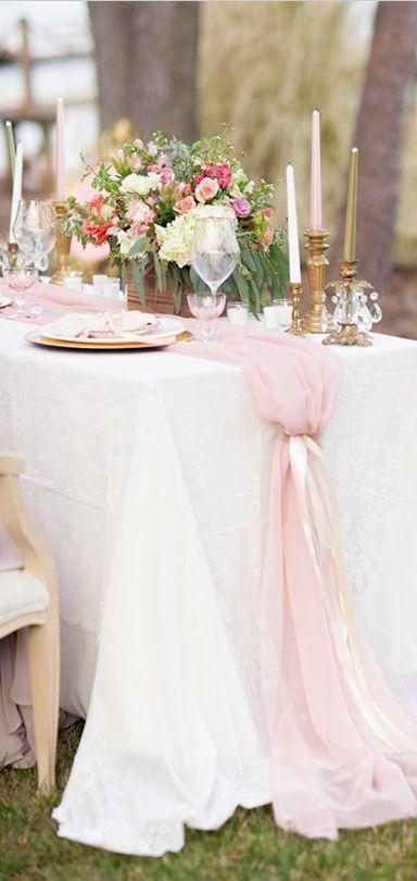 allestimenti matrimonio rosa cipria e oro
