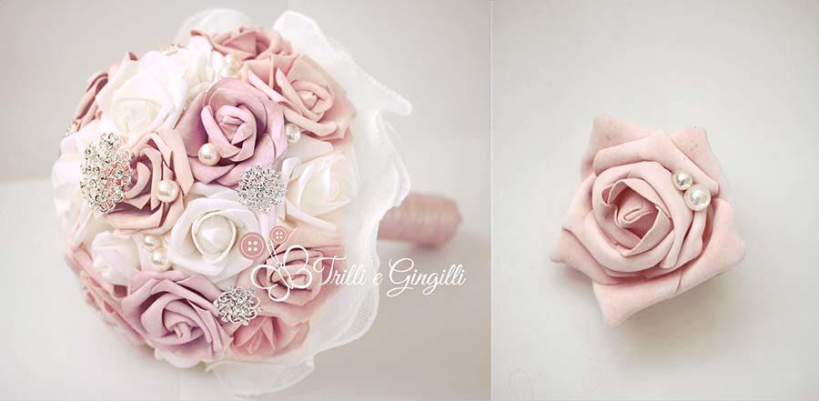 bouquet rosa antico gioiello