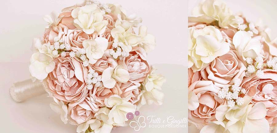 bouquet rosa cipria blush
