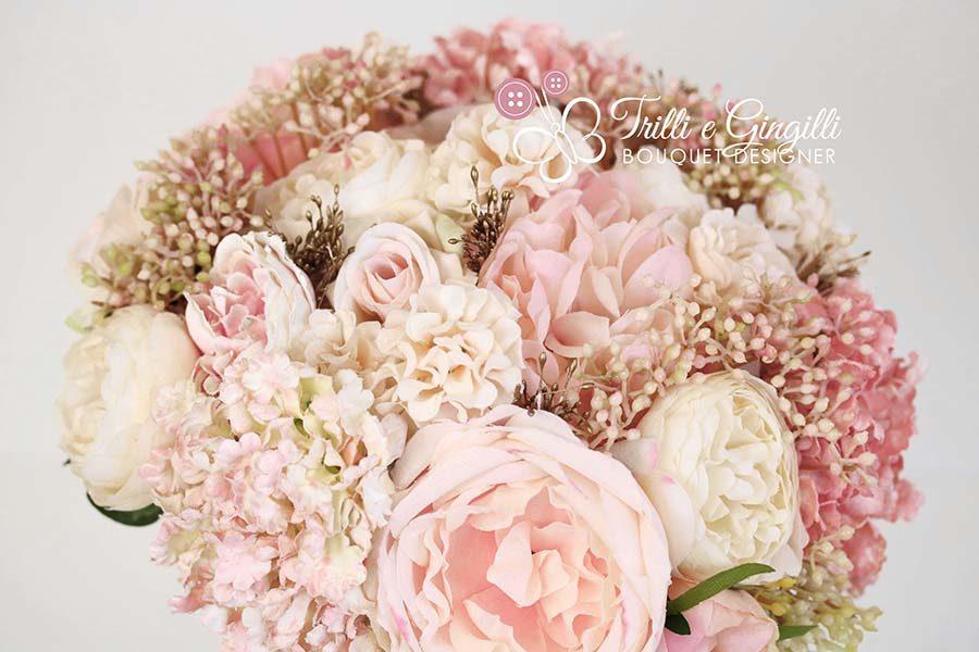 bouquet sposa rosa cipria blush