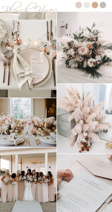 palette matrimonio rosa cipria e tortora