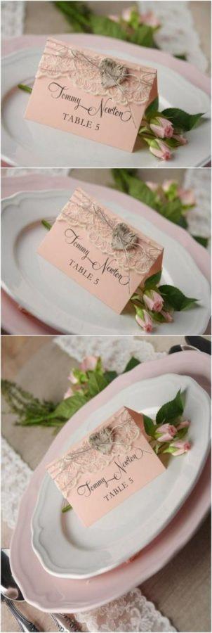 segnaposto matrimonio rosa antico shabby