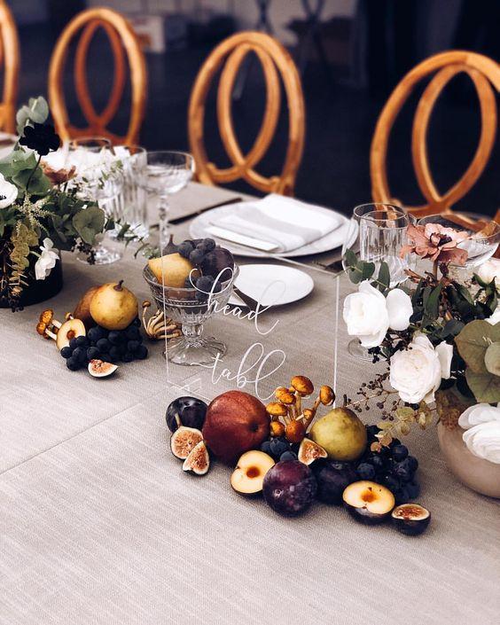 allestimenti tavolo matrimonio tema frutta
