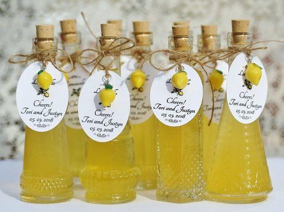bomboniere limoncello per matrimonio a tema frutta
