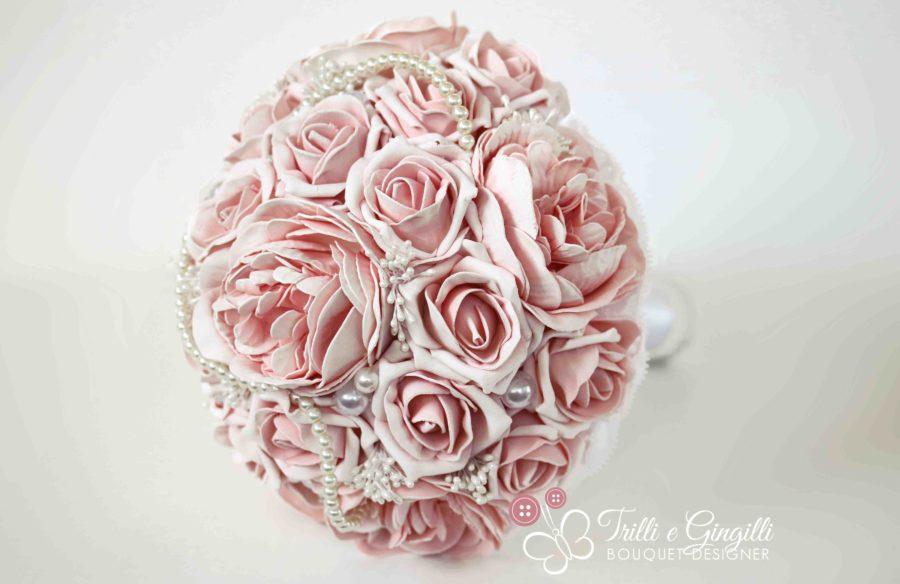 bouquet rose peonie perle