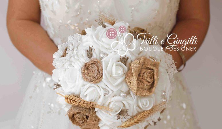 Bouquet da sposa in stile country e country-chic