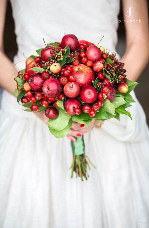 bouquet sposa con frutti
