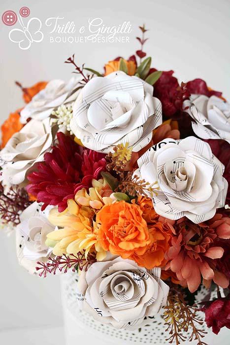 bouquet realistico tema musica