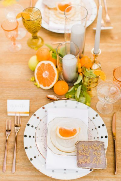 segnaposti matrimonio tema frutta arance