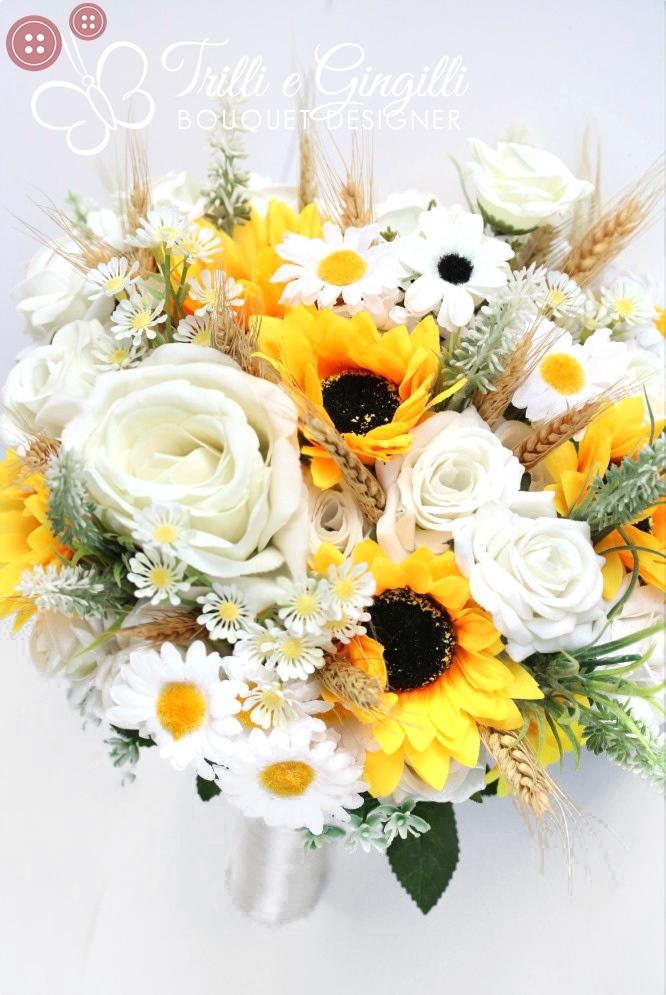 Bouquet Sposa Margherite E Rose.Foto Bouquet Sposa Di Girasoli Tanti Esempi Per Il Tuo Matrimonio