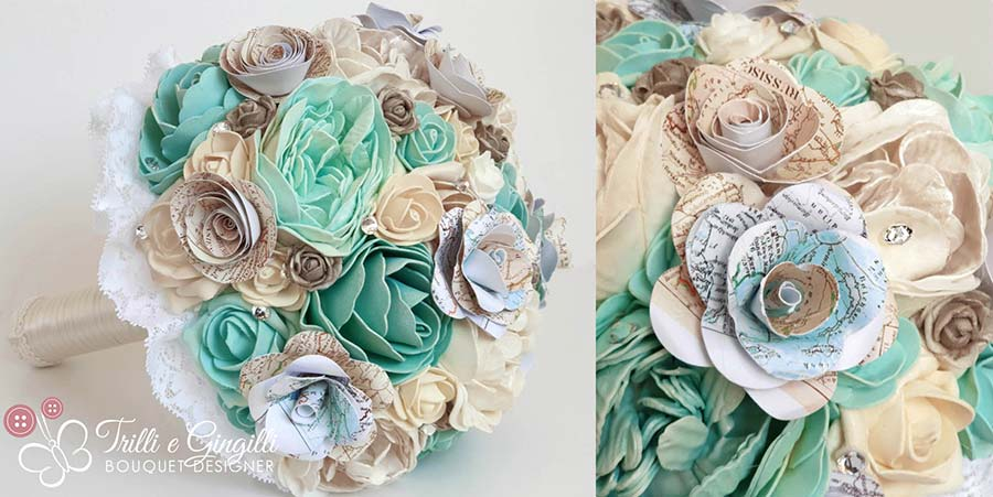 bouquet tema viaggio tiffany