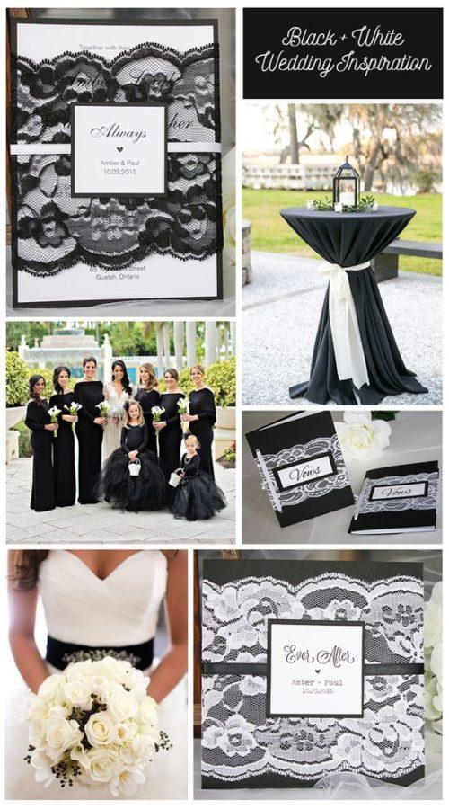 idee matrimoni bianco e nero pizzo