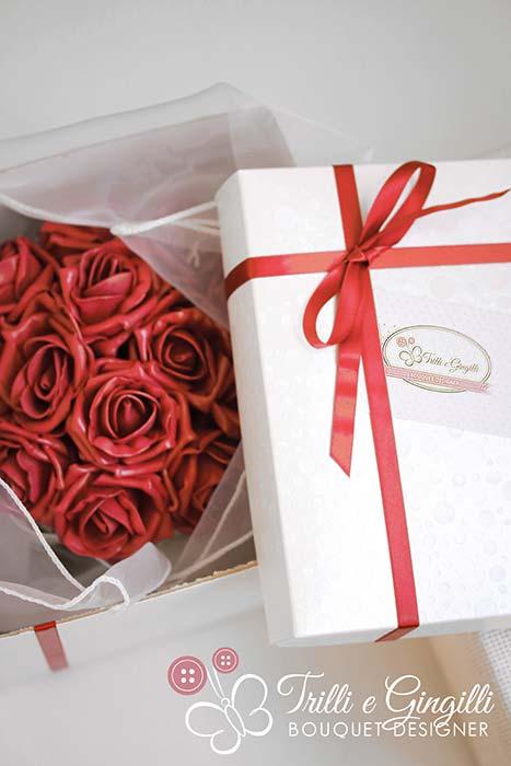 flower box rose rosse