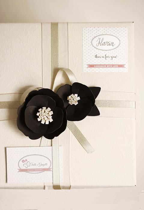 scatola di fiori per compleanno