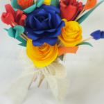 bouquet fiori di carta colorati