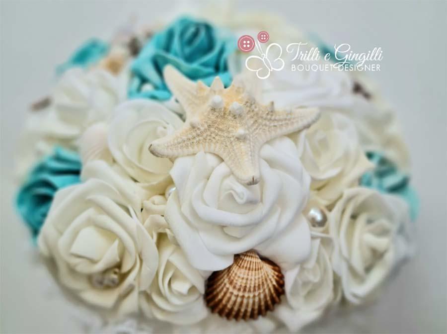 Bouquet tiffany a tema mare