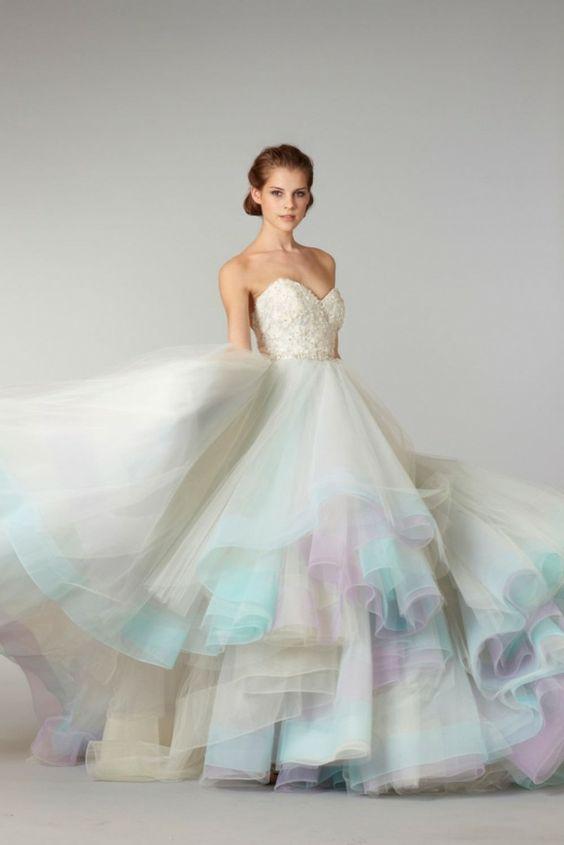 abito sposa color pastello