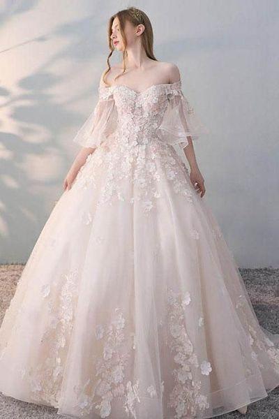 abito sposa rosa cipria