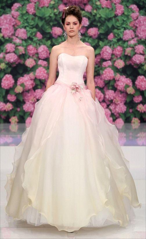 abito sposa rosa pastello
