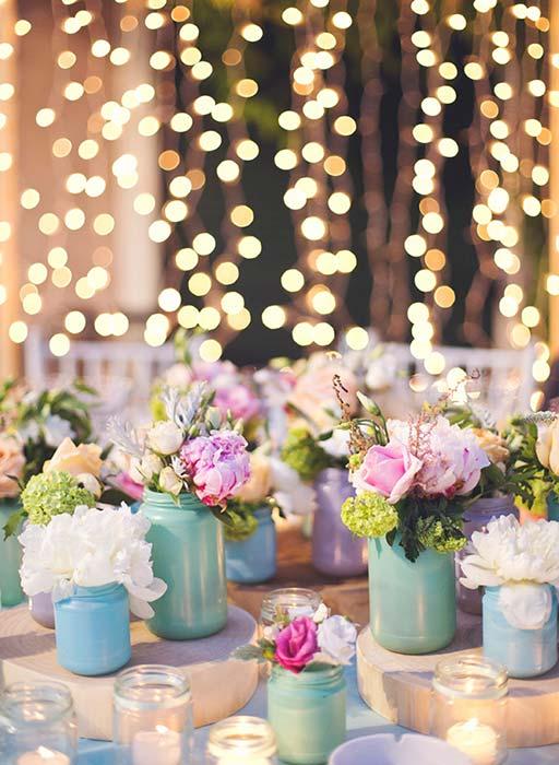 matrimonio color pastello decorazioni