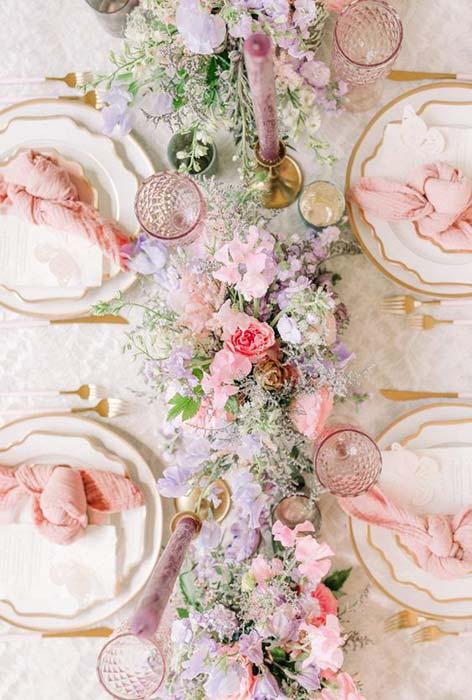 matrimonio pastello allestimento tavola