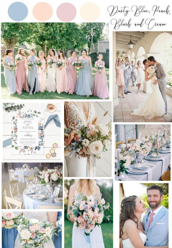 palette matrimonio pastello azzurro polvere pesca rosa antico