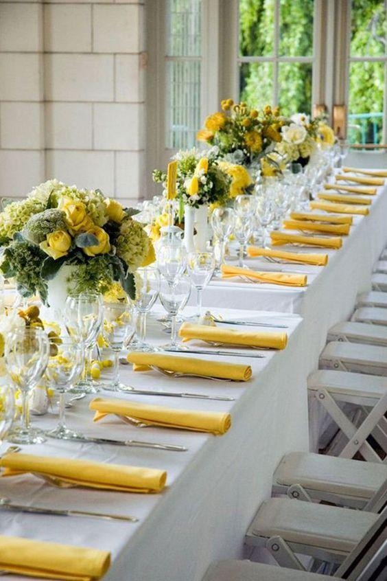 allestimento matrimonio giallo