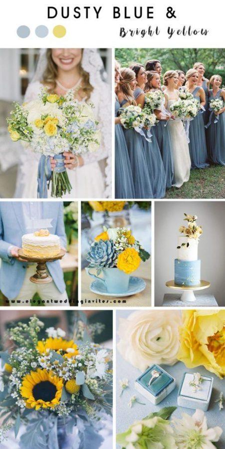 palette matrimonio giallo e azzurro